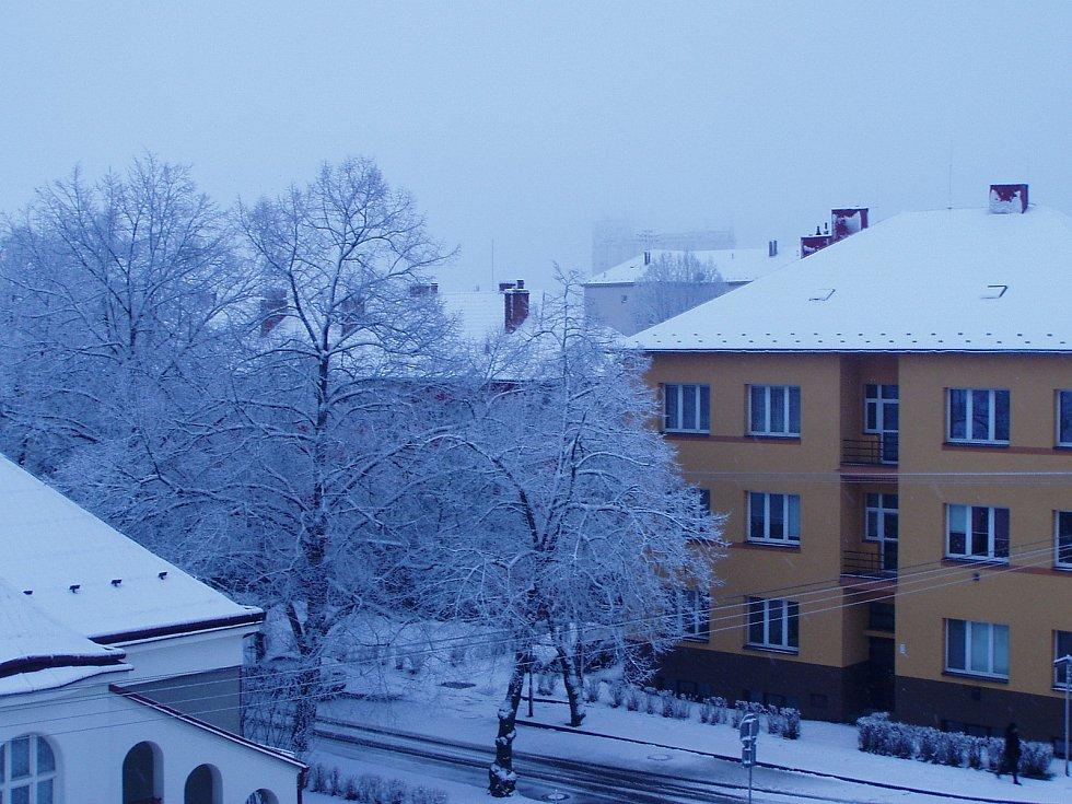 Do Moravskoslezského kraje se po jarní sobotě vrátila v neděli zima. 24. ledna 2021.