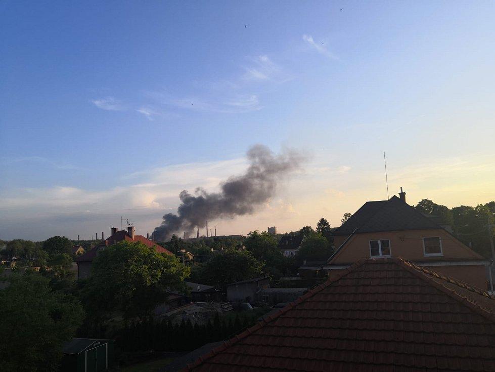 Požár v ostravské huti ArcelorMittal.