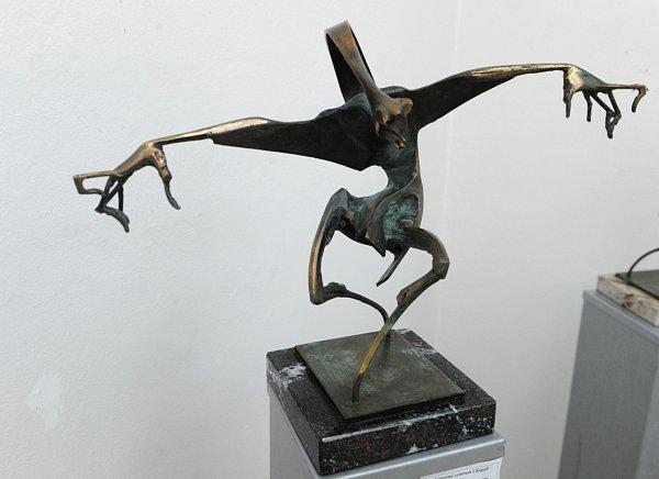 Díla Igora Kitzbergera ve Výtvarném centru Chagall vOstravě.