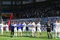 Závěr zápasu fotbalového Baníku. Ilustrační foto.