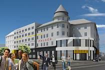 Vizualizace. Z bývalého hotelu Palace má být univerzitní kampus.