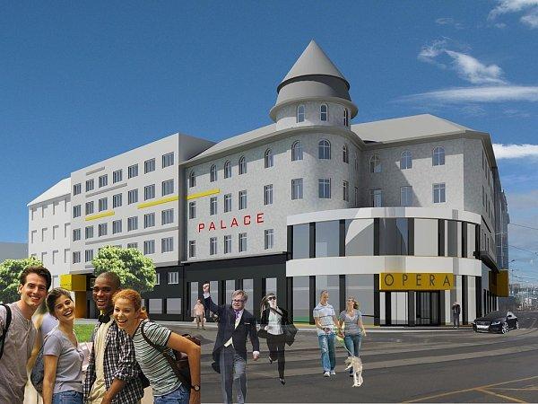 Vizualizace. Zbývalého hotelu Palace má být univerzitní kampus.
