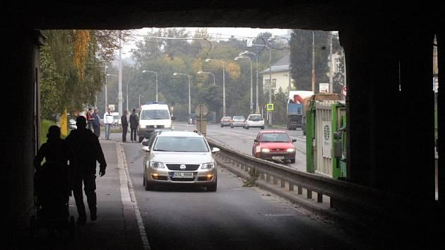 Podjezd v Ostravě-Přívoze