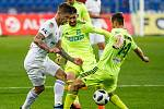 FC Baník Ostrava – MFK Karviná, zleva Martin Fillo, Letić Bojan, Jan Moravec