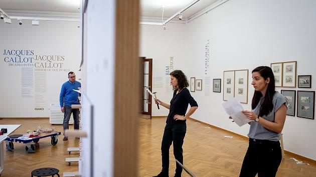 Nová instalace od Jacquese Callota (kreslíř a rytec) v GVUO (Galerie výtvarného umění v Ostravě), 20. ledna 2020 v Ostravě.