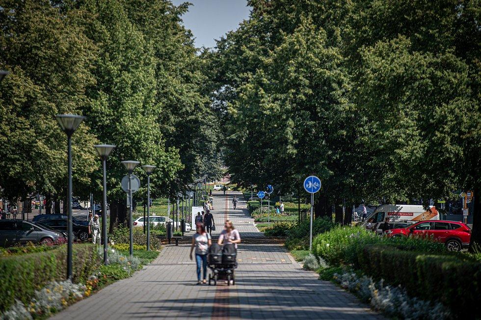 Hlavní třída v Porubě, 22. července 2020 v Ostrava.