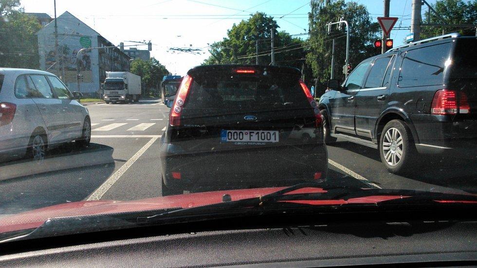 Například tuto VIP značku můžete spatřit v Moravskoslezském kraji.