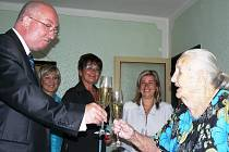 Růžena Bartová v úterý oslavila 101. narozeniny.