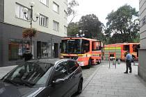 Zásah hasičů u požáru bytu v centru Ostravy.