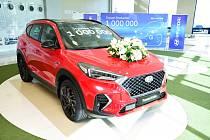 Miliontý Tucson. Počátkem října sjel z výrobních linek automobilky v Nošovicích vůz Hyundai Tuscon s pořadovým číslem 1 000 000.