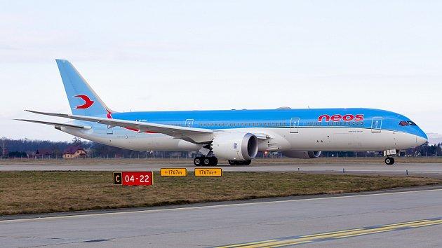 Boeing 787Dreamliner přistál vOstravě.