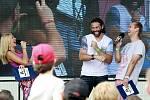 Takřka pět tisíc lidí navštívilo v sobotu festival Sporťáček, který se konal na Městském stadionu ve Vítkovicích. Nechyběl mezi nimi ani hokejový útočník Floridy Jaromír Jágr.