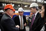 Britský ministr Lord Livingston na návštěvě Vítkovic.