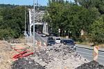 Úpravy silnice kvůli stavbě outletového centra v Ostravě-Přívoze.