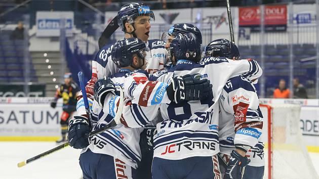 Utkání 37. kola hokejové extraligy: HC Vítkovice Ridera - HC Verva Litvínov, 17. ledna 2020 v Ostravě. Na snímku radost Vítkovic.