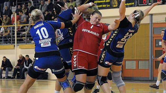 Romana Tomečková hýřila v derby s Olomoucí aktivitou.