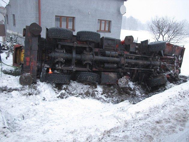 Snímek z místa nehody