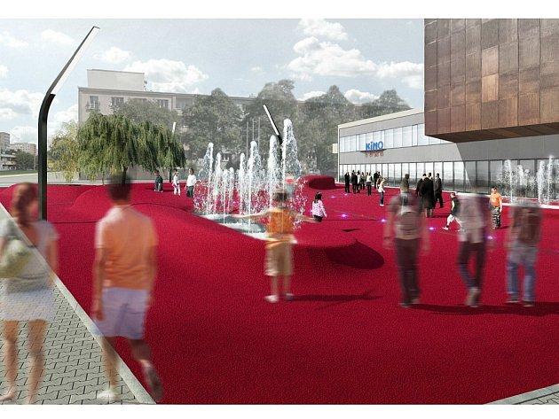 Vizualizace zrekonstruovaného prostoru před kinem Luna.