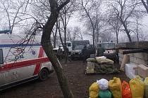 Materiální pomoc dorazila na východ Ukrajiny.