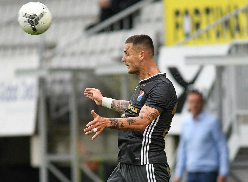 FORTUNA:LIGA - Skupina o titul, 5. kolo - FK Jablonec - FC Baník Ostrava, 8. července 2020 v Jablonci. Roman Potočný
