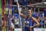 """Popis fotky: Barbora Špotáková - Zlatá tretra, atletický mítink IAAF World Challenge, 20. června 2019 v Ostravě. Oštěp žen. Barbora Špotáková z ČR.<body xmlns=""""http://newsml.ctk.cz/ns/ctkxhtml.xsd""""><p>    Ostrava - Světová rekordmanka Barbora Špotáková př"""
