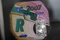 Dálniční známka na rok 2007