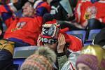 Olympijský festival v Ostravě, 23. února 2018. Sledování hokejového zápasu Česko-Rusko.