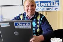Lídr TOP 09 pro volby do ostravského zastupitelstva Aleš Juchelka během on-line rozhovoru se čtenáři Deníku.