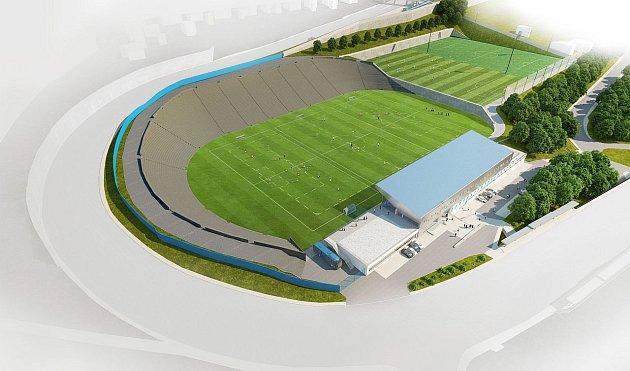 VIZUALIZACE fotbalové akademie na Bazalech.