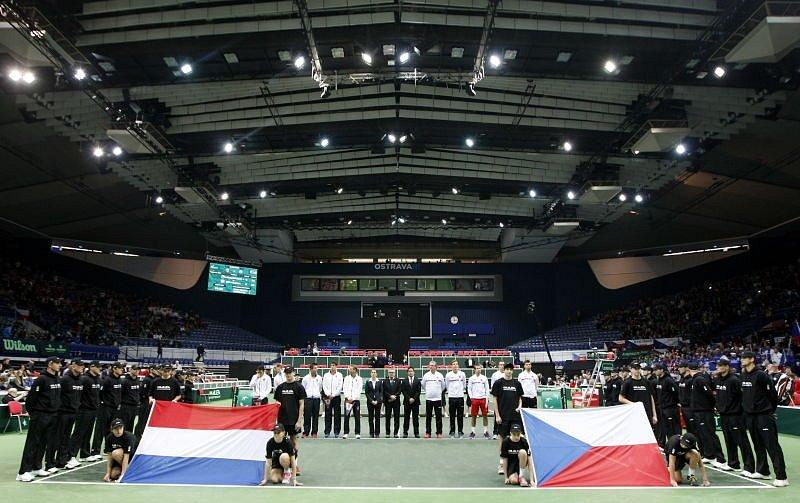 Davis Cup v Ostravě. Češi hrají s Nizozemskem.
