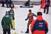 Olympijský festival u Ostravar Arény, 16. února 2018 v Ostravě, sportoviště - snowboarding.