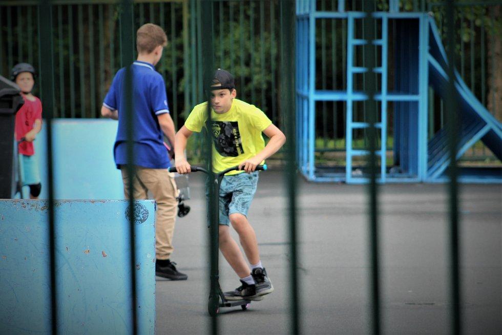 Skatepark před letoparkem