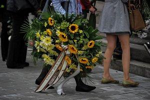 Pohřeb hudebnice Denisy Bílé
