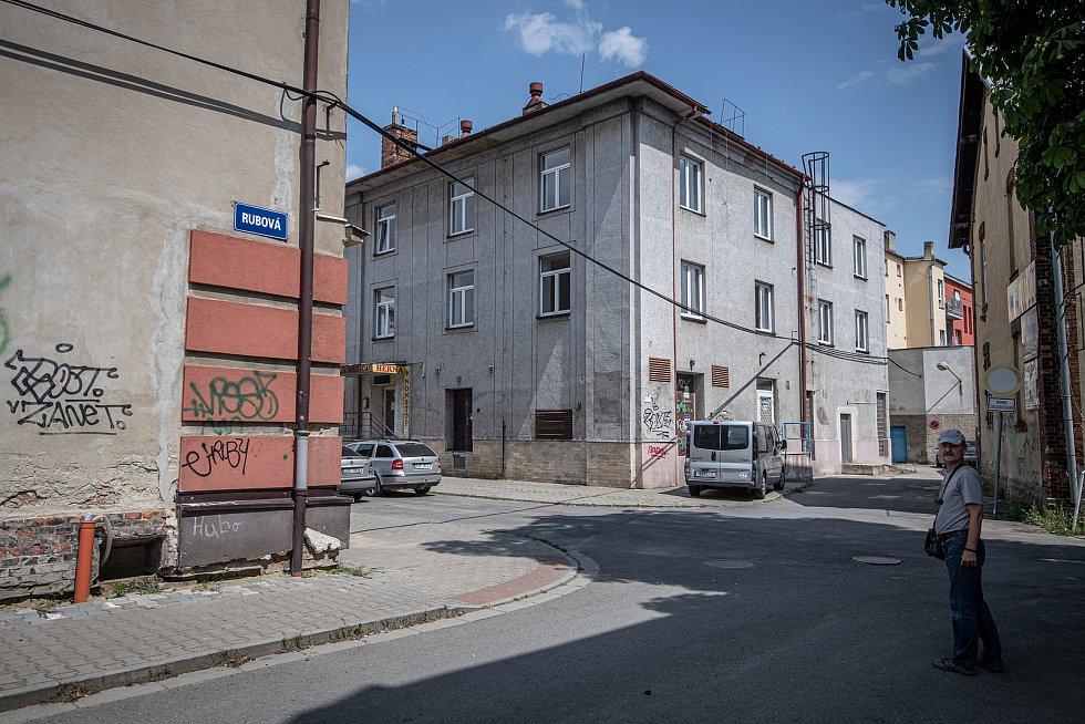 Městská část Mariánské Hory a Hulváky, okolí ulic Bendlova a Slévárenská, 23. července 2021 v Ostravě.