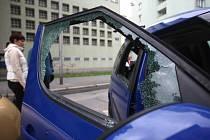 Auto vykradené v centru Ostravy. Ilustrační foto