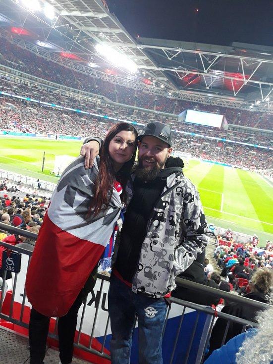 Barbora Laurenčíková a Jan Gill z Havířova ve Wembley.