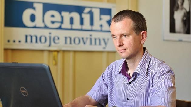 Dozorující státní zástupce v kauze Dědic Vít Koupil hostem ostravské redakce Deníku.