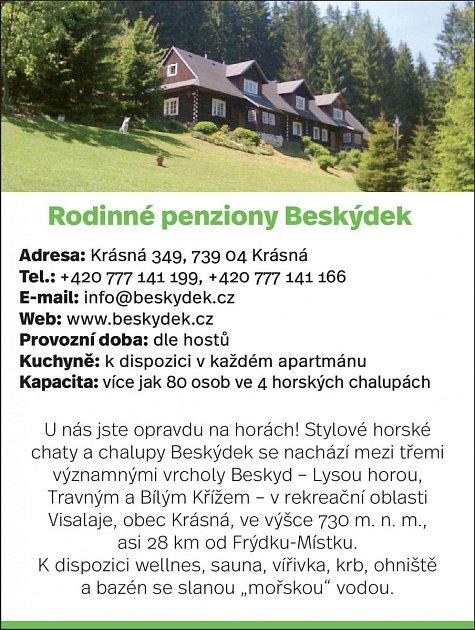 Penziony Beskýdek, Krásná 349, Pražmo