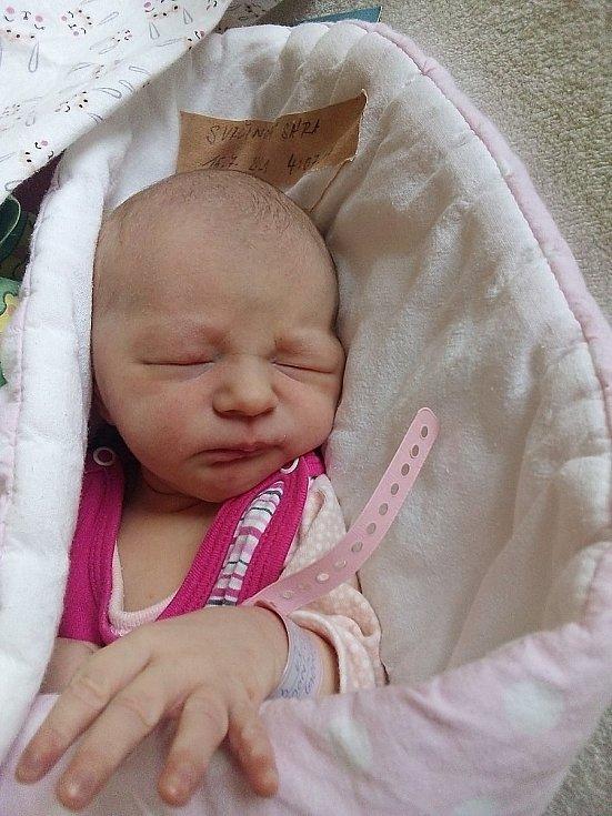 Sára Svrčinová, Bruntál, narozena 15. července 2021 v Krnově, míra 46 cm, váha 2980 g. Foto: Pavla Hrabovská