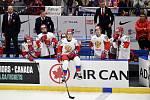 Mistrovství světa hokejistů do 20 let, finále: Rusko - Kanada, 5. ledna 2020 v Ostravě. Na snímku smutek Ruského týmu.