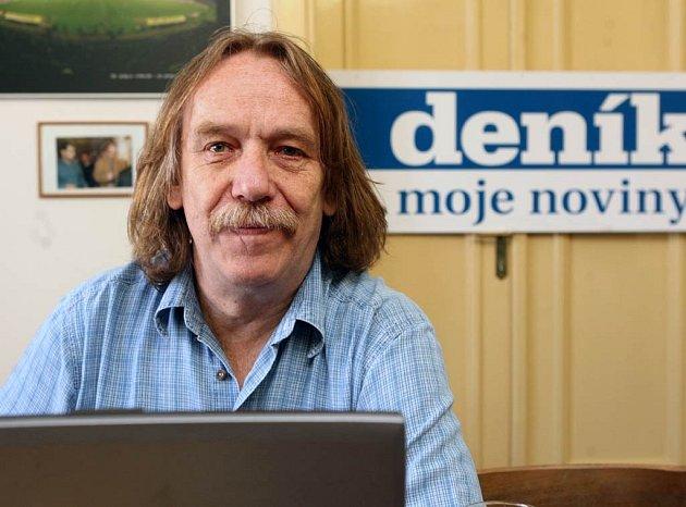 Jaromír Nohavica v redakci Moravskoslezského deníku