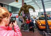 Výstava hrdinů Avengers v Nové Karolině.