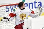 Mistrovství světa hokejistů do 20 let, finále: Rusko - Kanada, 5. ledna 2020 v Ostravě. Na snímku brankář Ruska Amir Miftakhov.