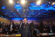 28. kongres ODS v ostravském hotelu Clarion, sobota 13. ledna 2018. Na snímku v popředí Petr Fiala.