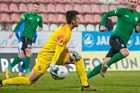 RADOVAN MURIN prožil v sobotu v Příbrami snový ligový debut v brance Baníku Ostrava, který vyhrál u Litavky 4:0. Foto: FC Baník Ostrava