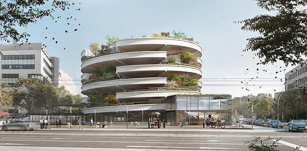 Vizualizace nového parkovacího domu v Ostravě - 2. místo Sollaron architects