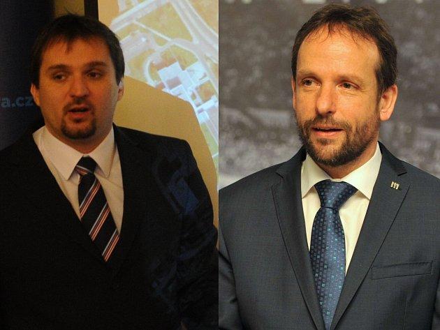 Na snímku vlevo náměstek Štěpánek, vpravo primátor Macura.