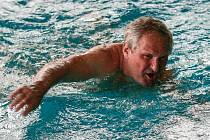 Plavání na padesát metrů bylo pro Vojtěcha Turleje v letošních sportovních hrách seniorů třetím startem.