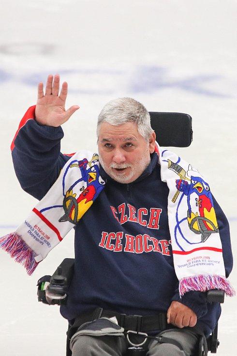 Mistrovství světa v para hokeji 2019, Korea - Česká republika (zápas o 3. místo), 4. května 2019 v Ostravě. Na snímku Roman Herink.
