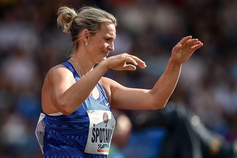 Zlatá tretra, atletický mítink IAAF World Challenge, 20. června 2019 v Ostravě. Na snímku Barbora Špotáková.